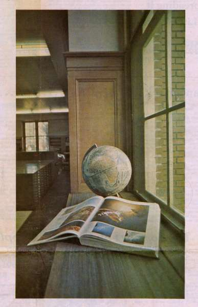 1974 photo of the UF Map Library published in the Gainesville Sun